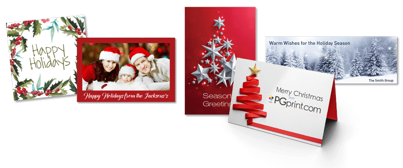 custom holiday cards banner